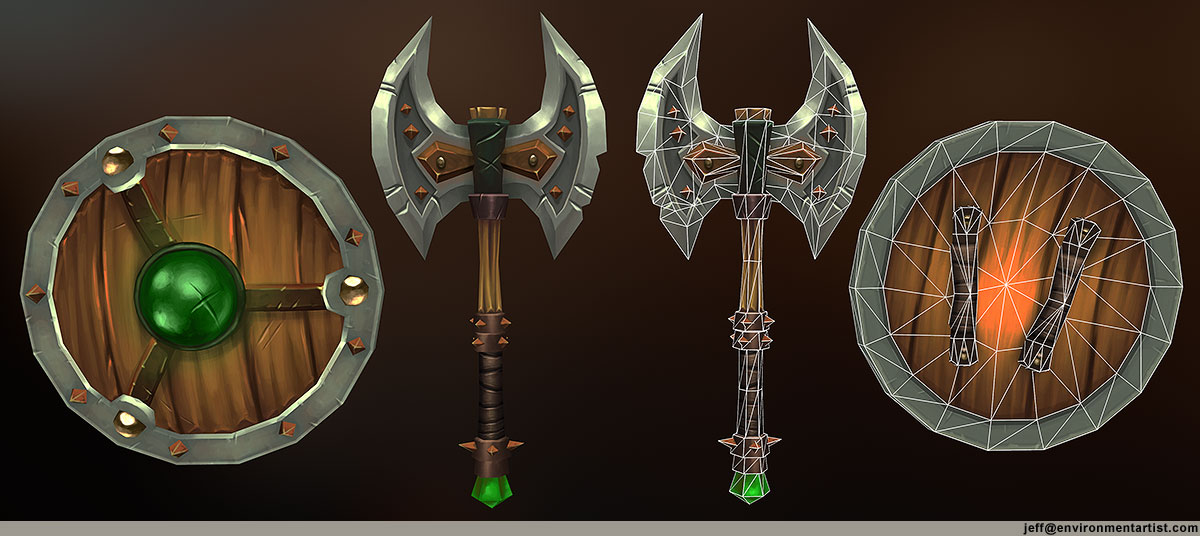 shield axe weapons